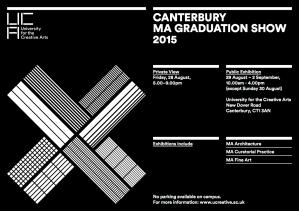 Invite UCA MA Show Canterbury 2015